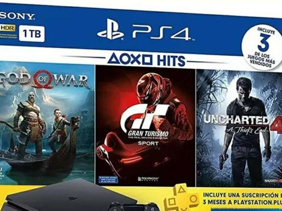 Playstation 4. 10 Hs. de Uso, 3 Juegos