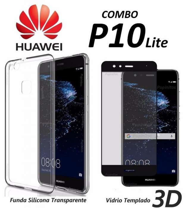 Funda Transparente Vidrio 3d Full Cover Huawei P10 Lite