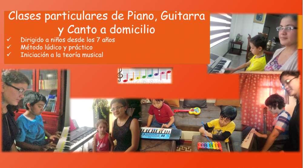Clases particulares de Piano, Guitarra y Canto a domicilio
