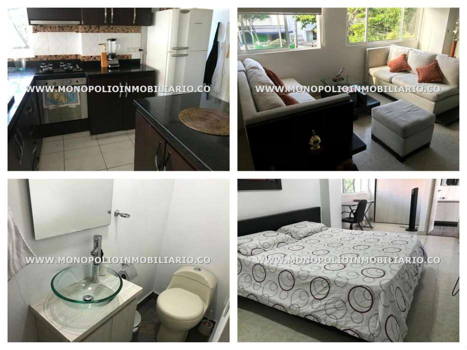 rento apartamento amoblado en el poblado código:17525