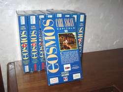 Lote de VHS Cosmos de Carl Sagan 350
