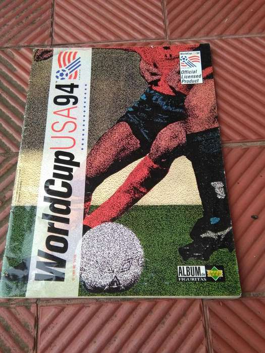 ALBUM DE FIGURITAS MUNDIAL 94 WORLD CUP USA 94 CON 34 FIGUS INCOMPLETO