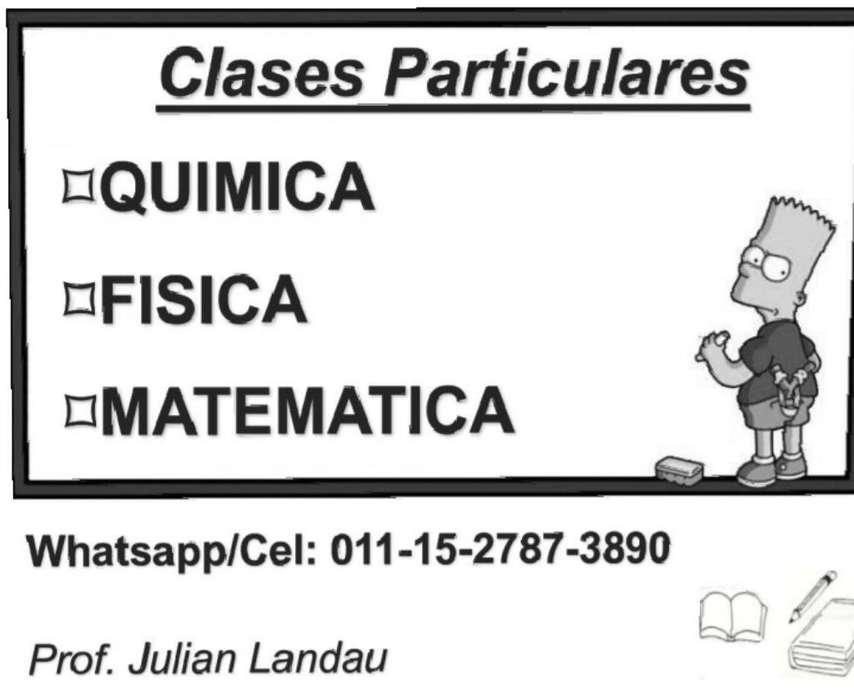 Clases Particulares Química Matemática