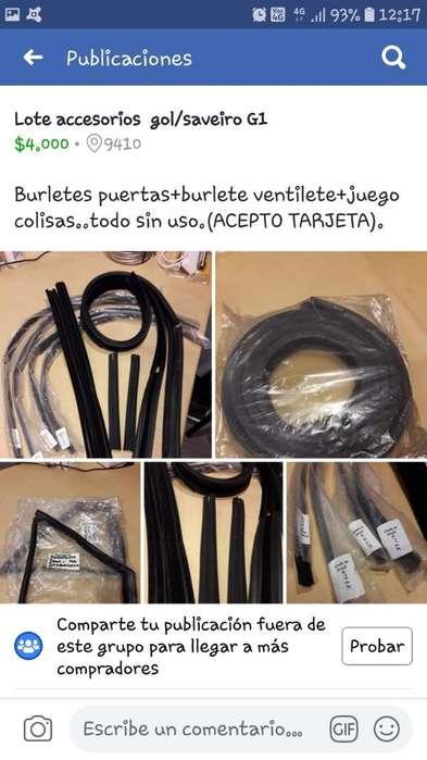 Vendo Burletes Colisas Y Ventilete Gol S