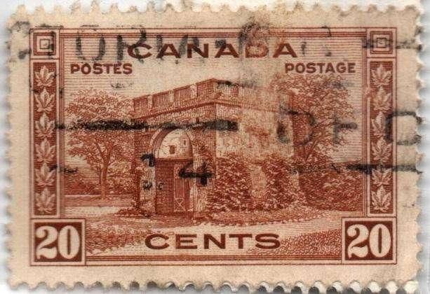 CANADA. ESTAMPILLA. 20 CENTS. 1938. SW 200. 30,5 M UNIDADES. ESTADO 7 DE 10. VALOR 2500