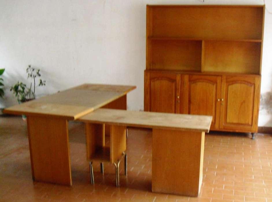 VENDO JUEGO DE <strong>escritorio</strong> DE MADERA COMPLETO