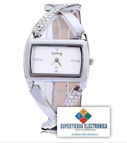 Reloj En Acero Diseño X Para Dama