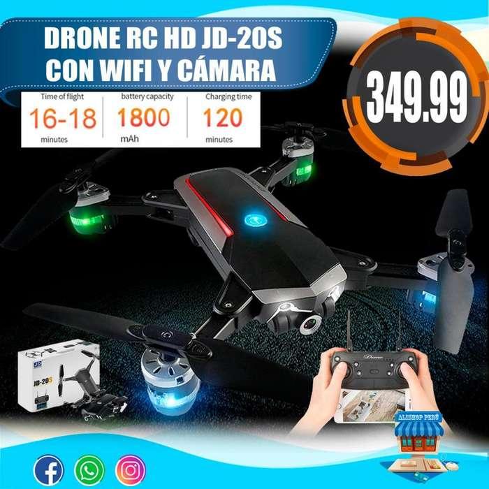DRONE CUADRICOPTERO RC JDRC JD-20S CON WIFI Y CAMARA HD