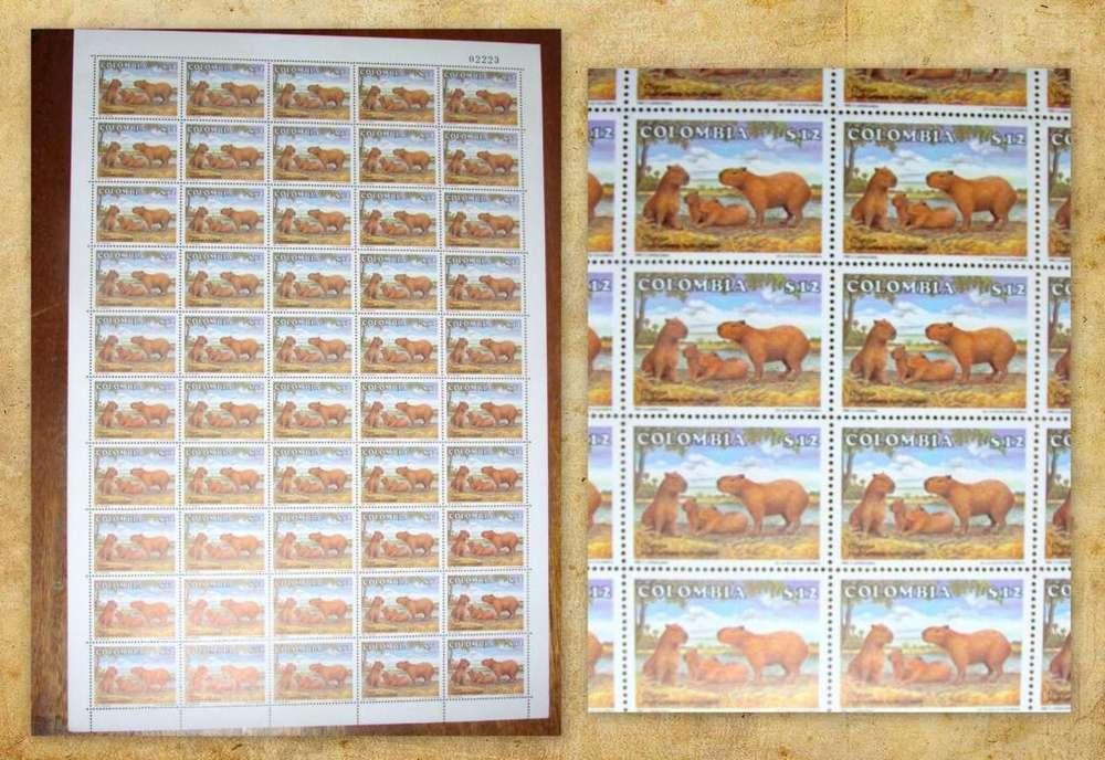 Estampillas Pliego 1985 Fauna Mamíferos