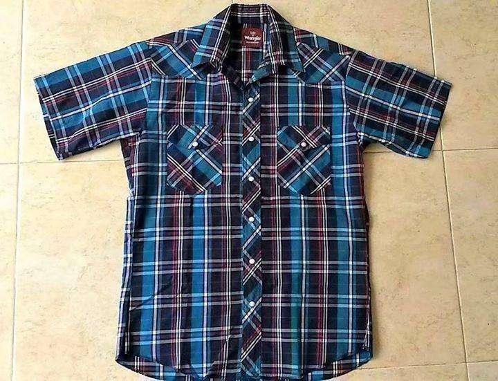 Camisa Wrangler a Cuadros, Original, Nueva, Talla M