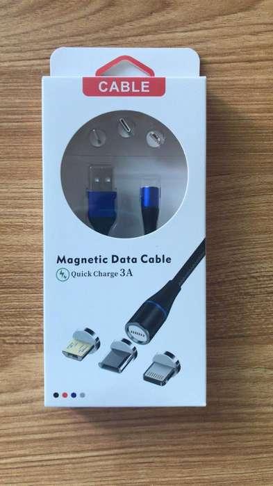 Cargador Magnético Usb 3a - Carga Rapida