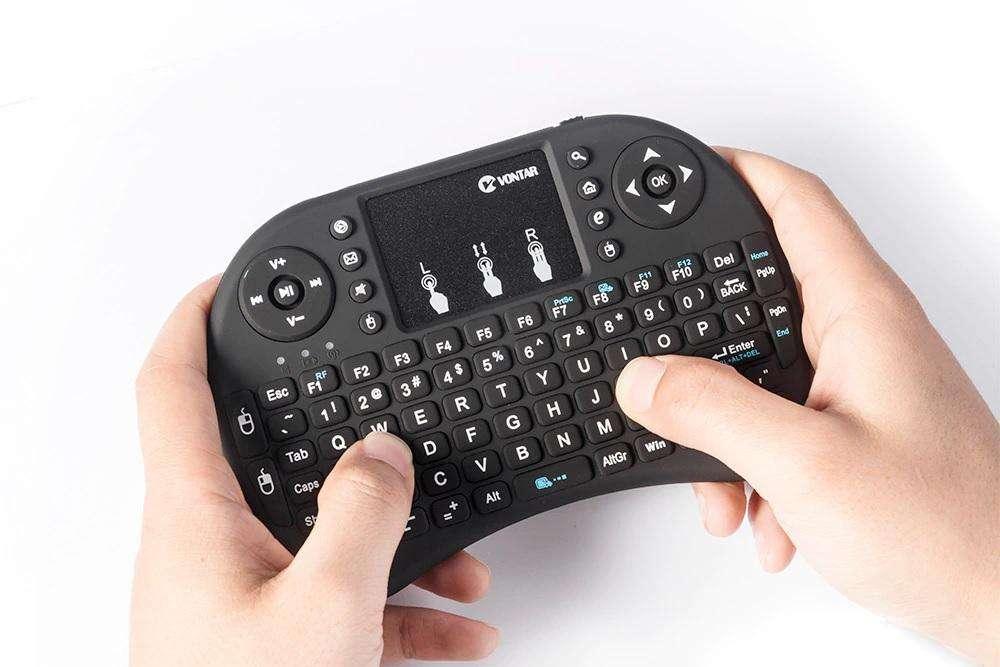 nuevos mini teclado inalambricos con touch pad para laptop, pc , tv box, stock 2 unidades
