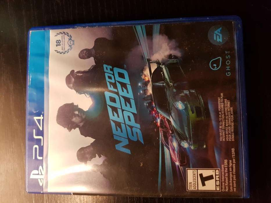 Need For Speed Juego Físico Ps4