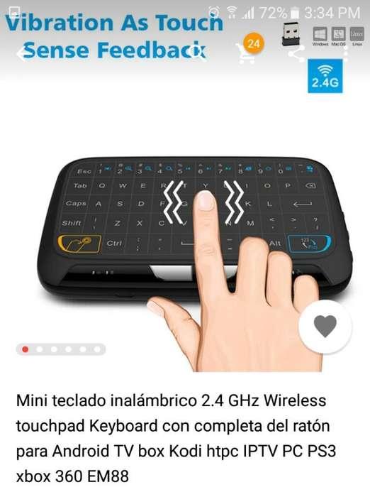 Tv Box Y Teclado Imnalambrico