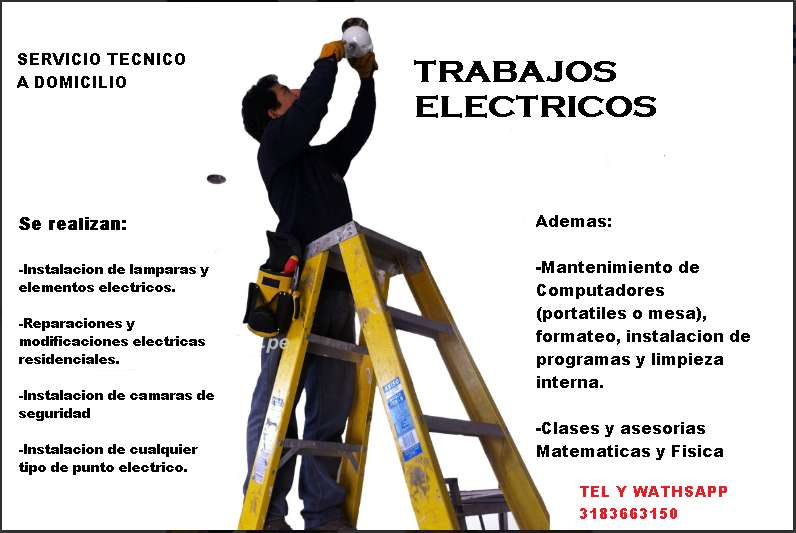 Servicios técnico electricista y de computadores