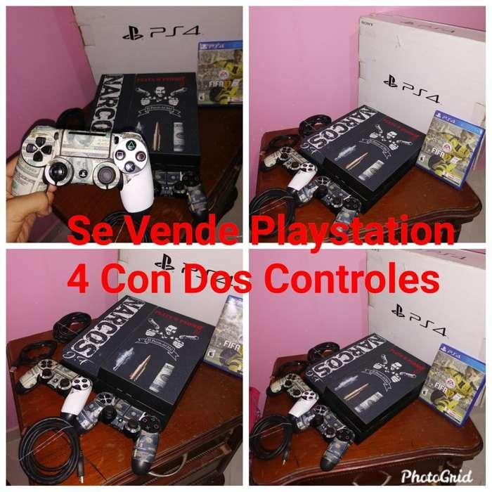 Se Vende Play 4 con Dos Controles