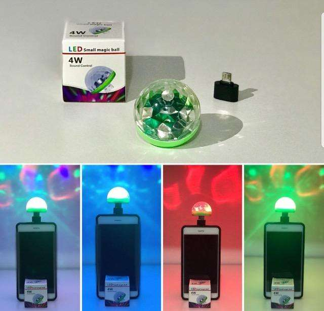 MINI BOLA FOCO LED PARA CELULAR USB/V8 SS1234