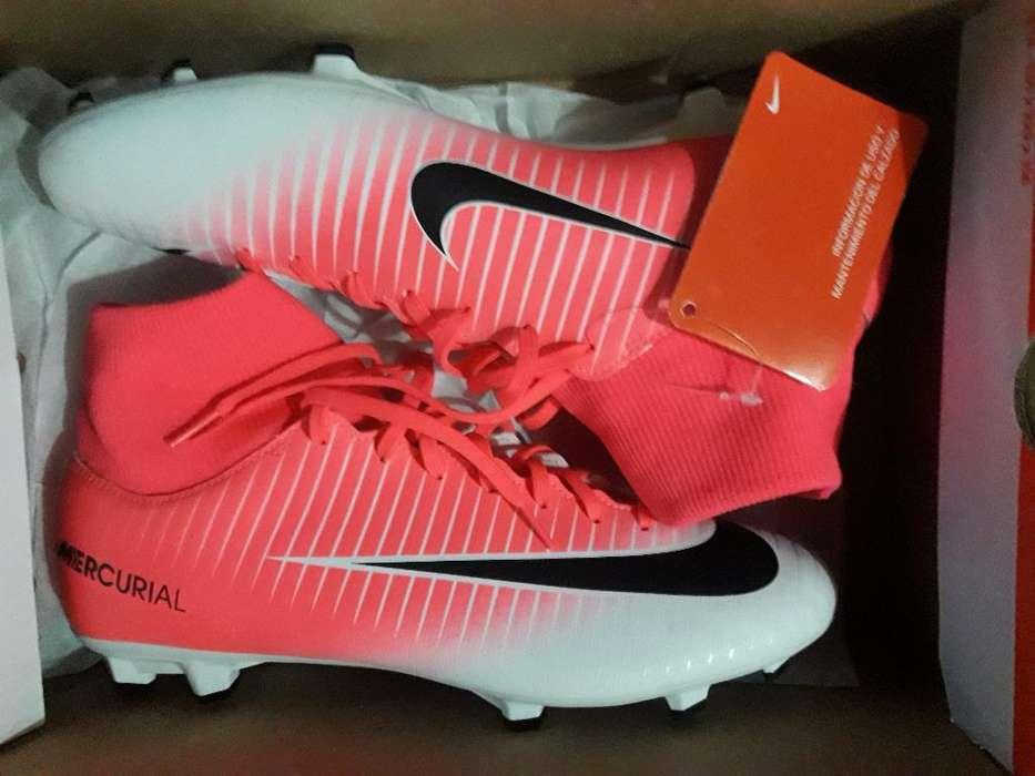Nike Mercurial Victori Botitas Rosas