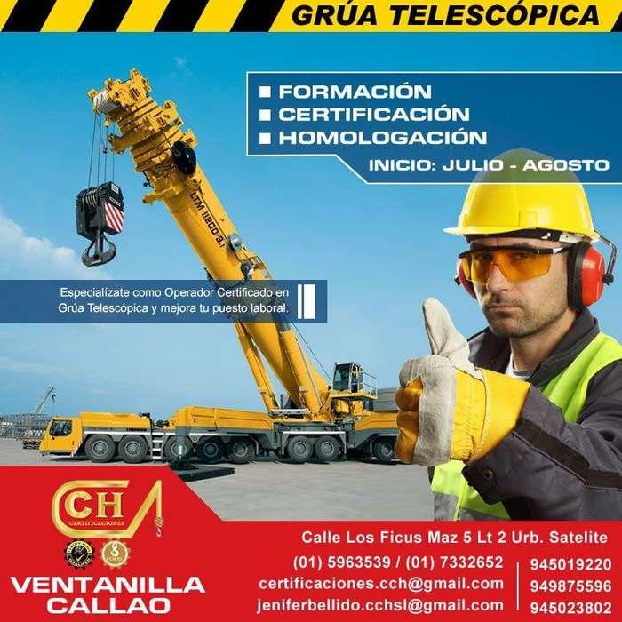 CAPACITACION CERTIFICACION Y HOMOLOGACION DE OPERADORES DE GRUA TELESCOPICA