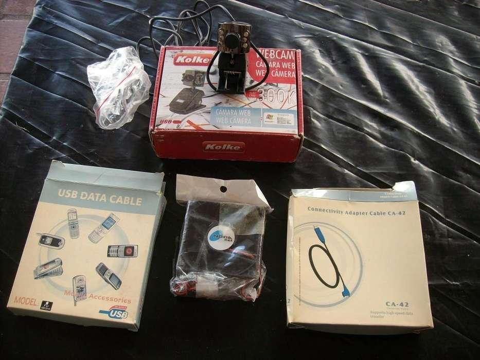 vendo camaras, cables conectores y ventilador para pc