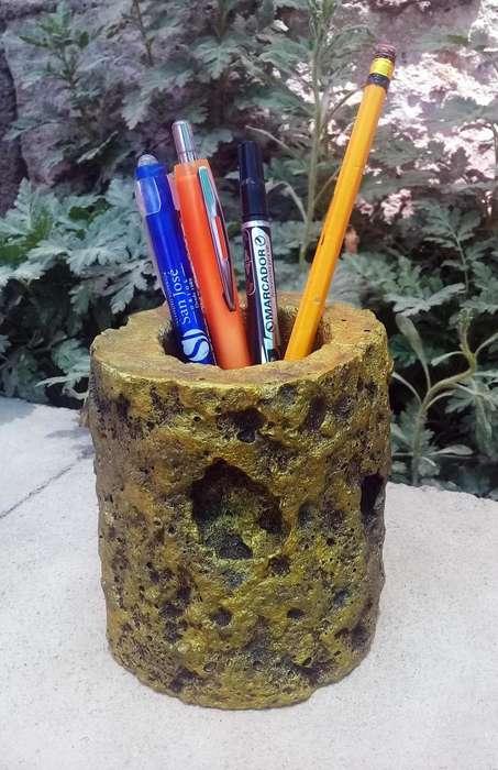 Porta lapiceros estilo rustico