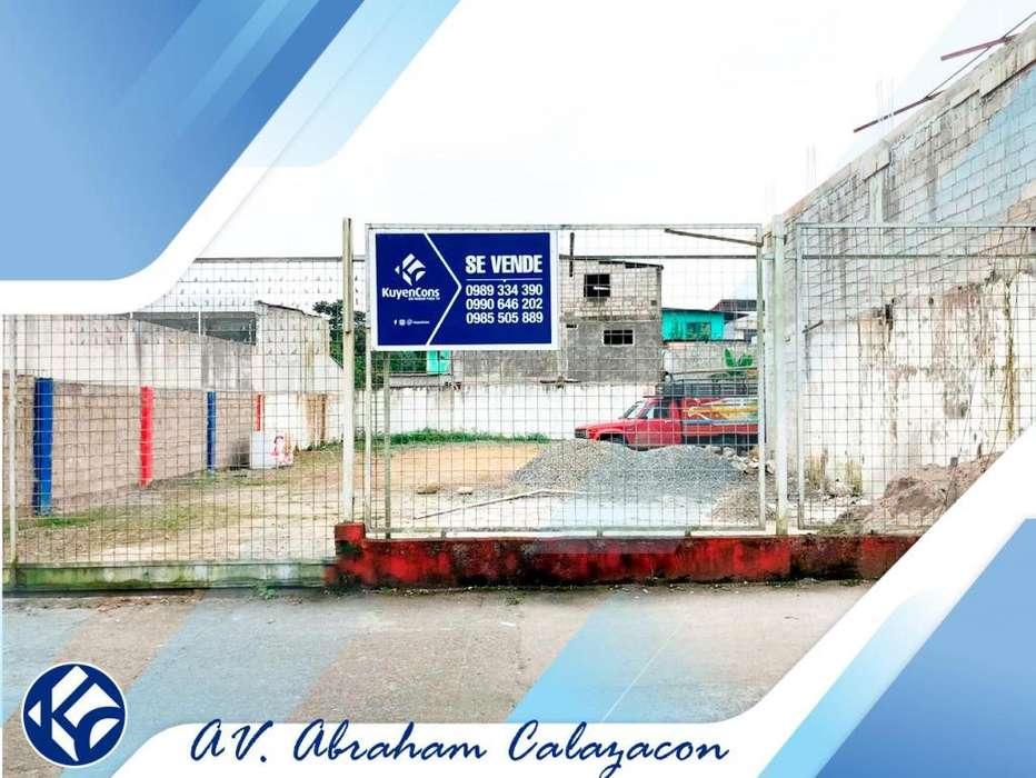 venta-lote-terreno-Ubicado en la av. abraham calazacon (A POCOS METROS DEL SECAP)