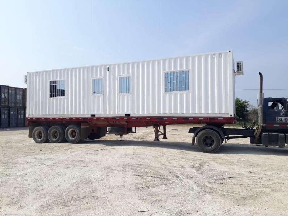 Oficina movil en contenedor maritimo 40pies