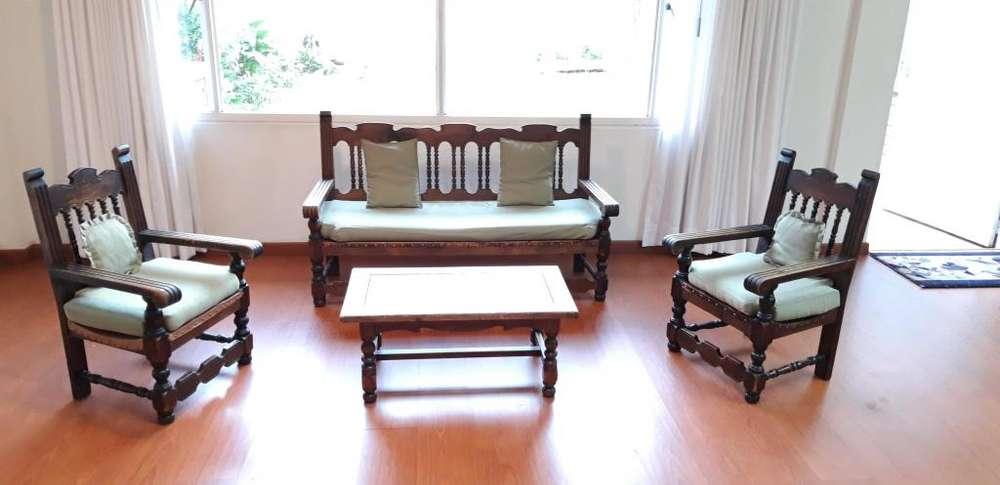Muebles rústicos para sala 5 puestos