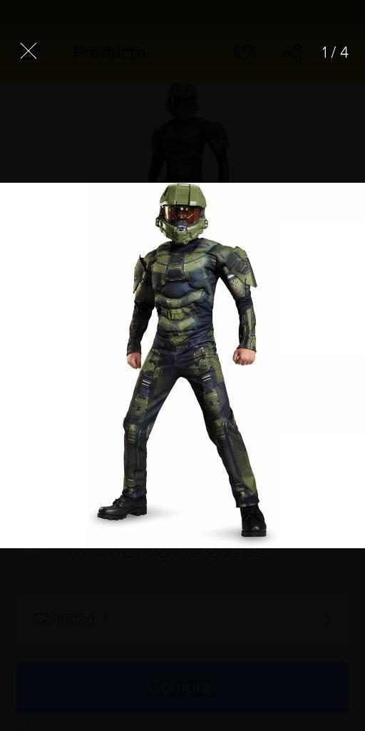 Disfraz Halo Niño Talla 6, Una Postura
