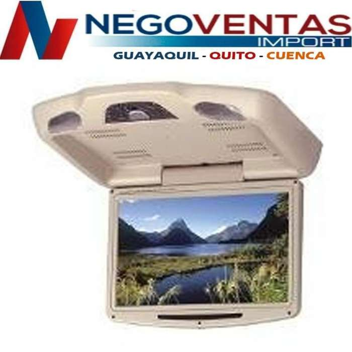 PANTALLA DE TECHO PARA CARRO 9 PULG CD DVD USB SD