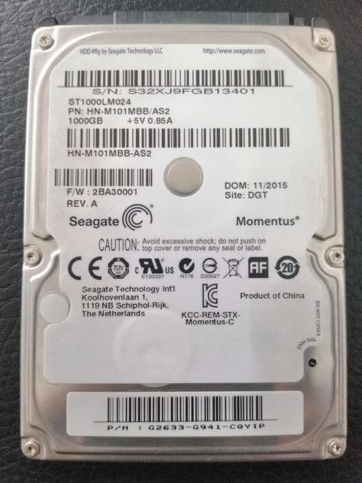 Disco duro hdd 1 tb seagate para pc porttil