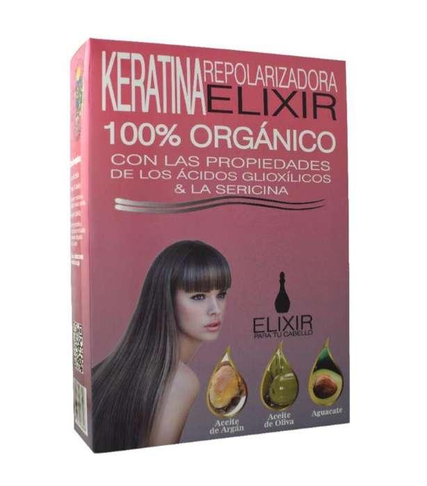 Keratina Repolarizadora Elixir LM X 240ml. 100% Orgánica.