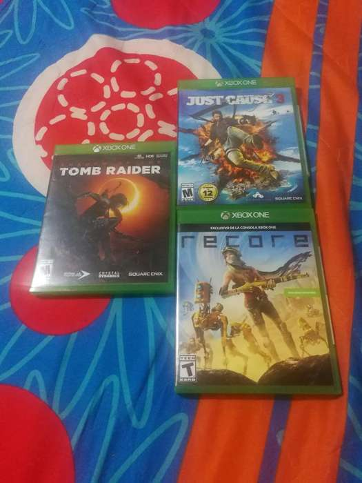 Tomraider,recore,just Cause3 Xbox One