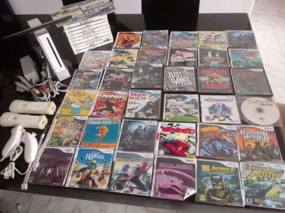 Wii blanco con mas de 40 juegos