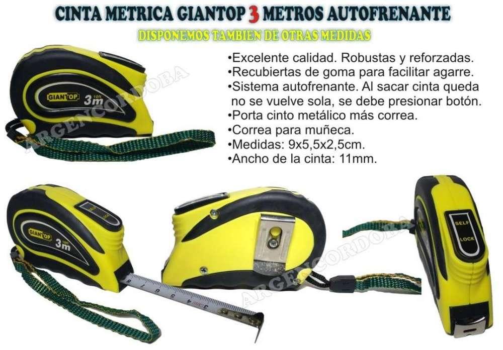CINTA METRICA GIANTOP 3 METROS AUTOFRENANTE EXCELENTE CALIDAD