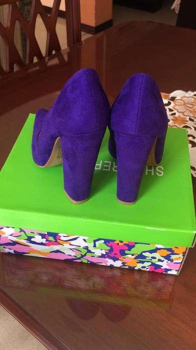 Zapatos Tacon Grueso