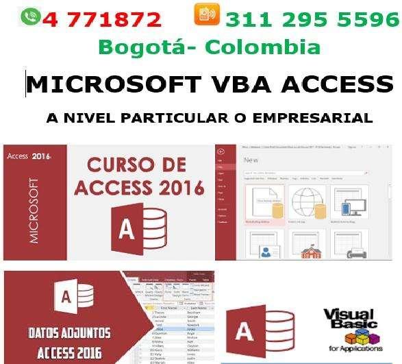Asesorias Access Bogotá, creación de aplicaciones en Access,clases, asesorías,
