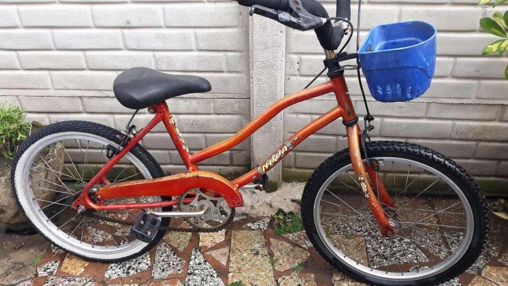 Bicicletas Bicicleta playera NOVA, rod 20 unisex, llantas de aluminio, canasto, etc, en muy buen estado