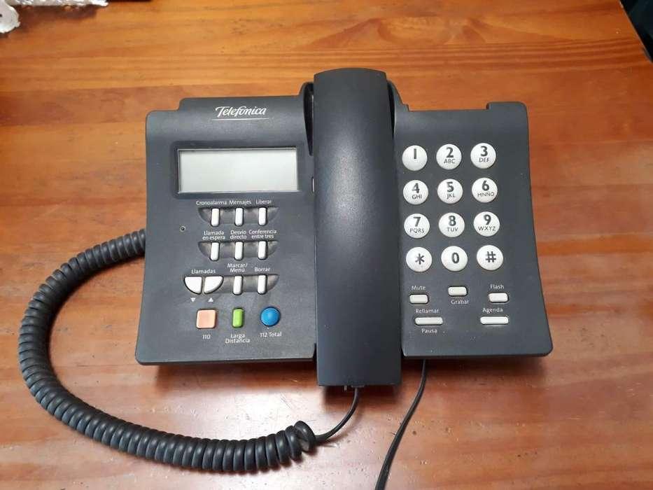 Teléfono fijo con identificador de llamada