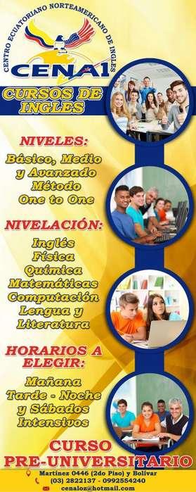 CENA..CURSOS DE INGLES, NEVELACION Y TAREAS DIRIGIDAS PARA NIÑOS, JOVENES Y ADULTOS