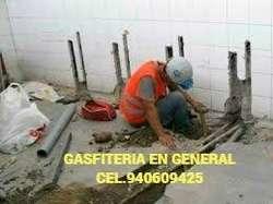 INSTALACIÓN, REPARACIÓN, LIMPIEZA DE TANQUES DE AGUA Y CISTERNAS, GASFITERIA, GASFITERO A DOMICILIO940609425