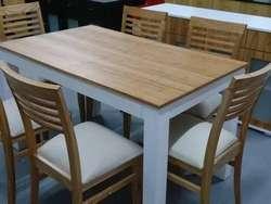 Mesa Paraiso asia Blanca Laqueada Comedor cocina 120x80 En Stock