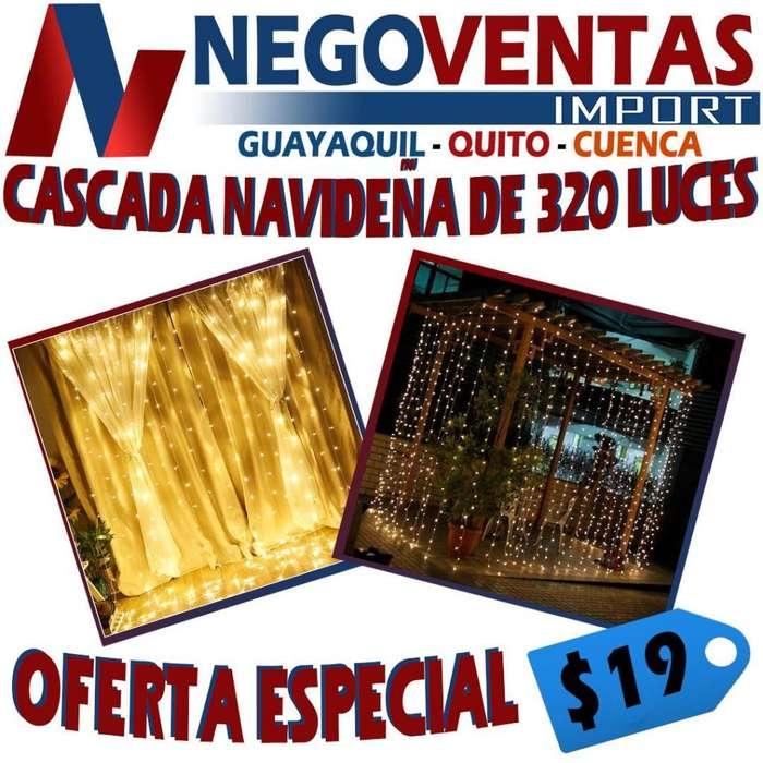 CASCADA NAVIDEÑA DE 320 LUCES