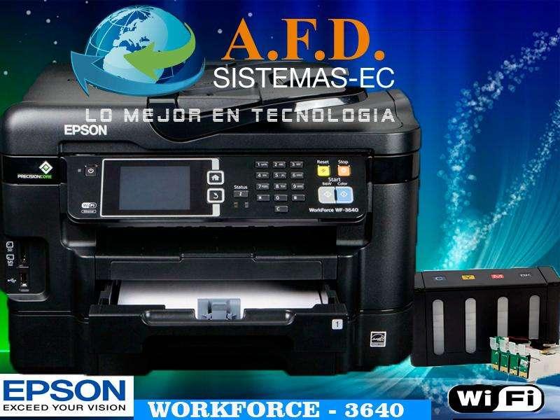 Impresora Epson Wf 3640 Con Sistema De Tinta Continua Wifi Duplex