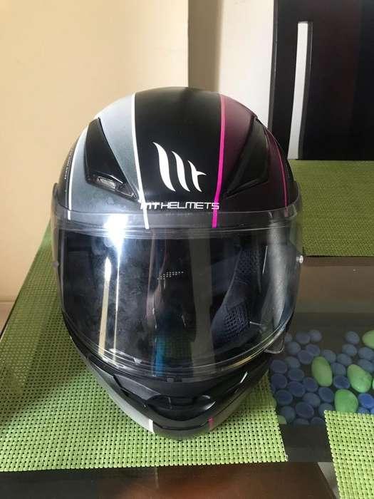 Vendo Casco Moto Mt Helmets talla S