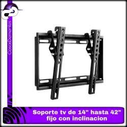 """SOPORTE FIJO CON INCLINACION PARA TV DESDE 14"""" HASTA 42"""""""