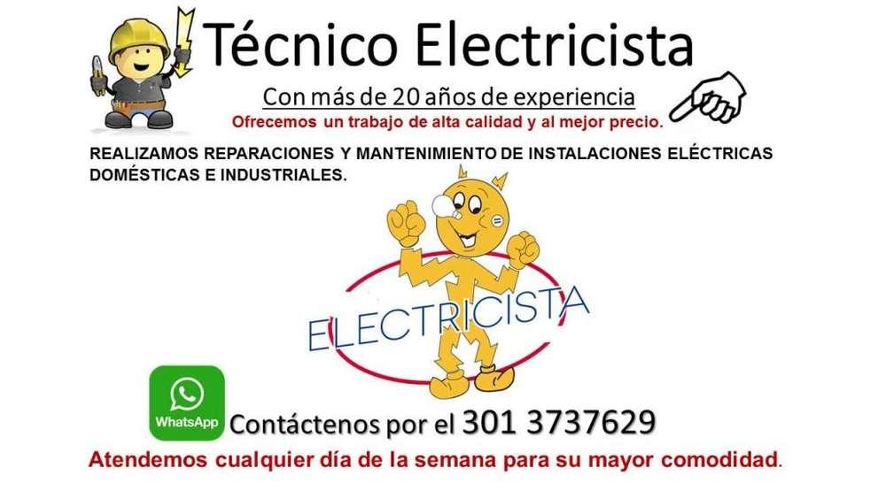 Electricista Profesional en Instalaciones y Reparaciones Eléctricas, Monturas de Duchas. Llámenos 3013737629