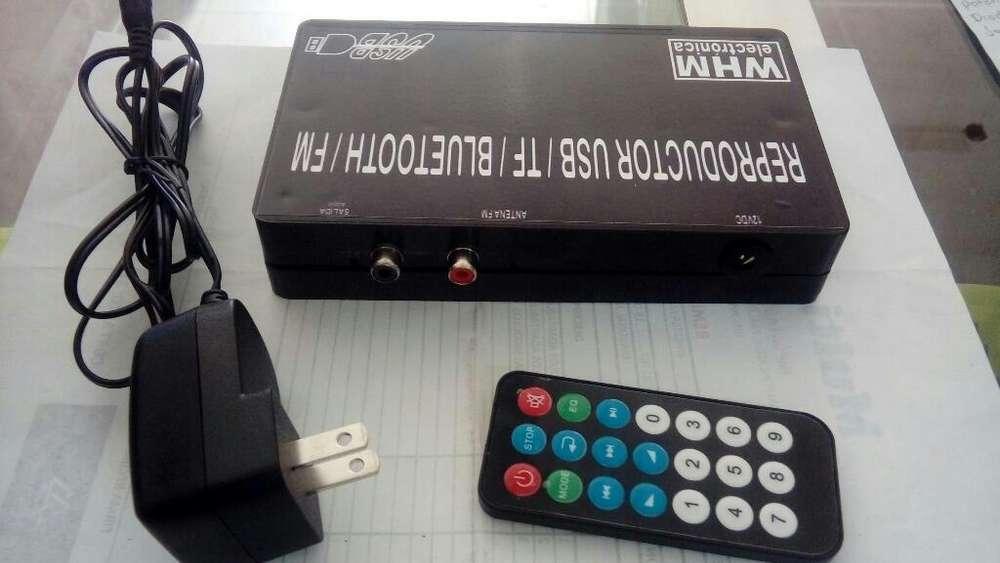 Receptor Bluetooth Usb Fm Sonido
