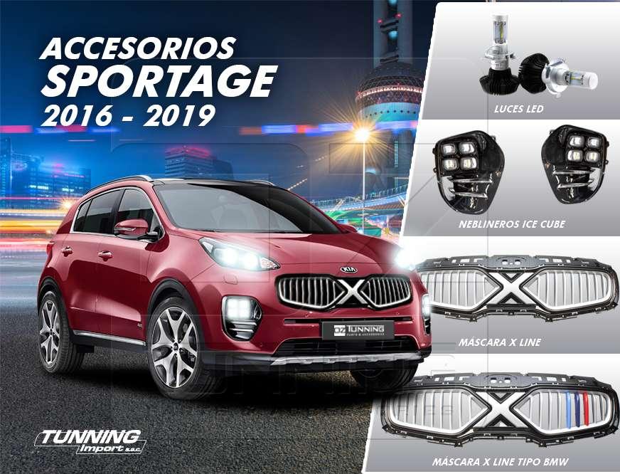 Transforma tu Kia New Sportage- Máscara X Line, Neblineros Ice Cube, Luces LED 12000 lúmenes Chip Philips