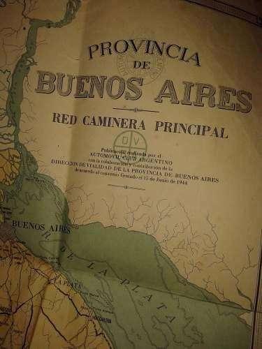 Mapa Prov Buenos Airesla Plata Red Caminera 194470x98cm